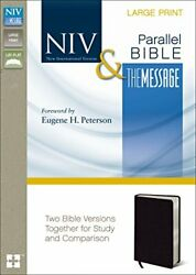 Niv, The Message, Parallel Bible, Large Print, Bonded By Zondervan Brand New