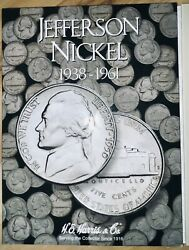 U.s. Jefferson And Wartime Nickel Years 1938-1961 Coins And Collection Book