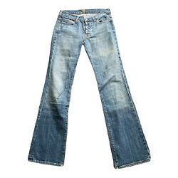 7 For All Mankind Womenand039s Size 27x31 Button Fly Boycut Jeans Boy Cut Distressed