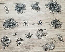 Huge Lot Of Vintage To Now All Sterling Silver Earring Findings Hooks Leverback