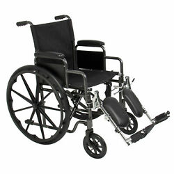 Folding Wheelchair Full Armrests And Elevating Legrests Light Weight