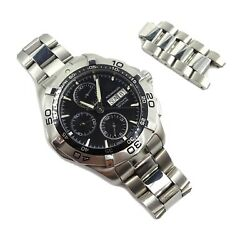Gents Automatic Tag Heuer Aquaracer Steel Black Dial Watch