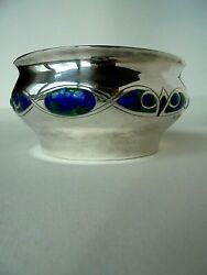 Arts And Crafts Silver Enamel Bowl London1909