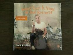 Morrissey World Peace Is None Of Your Business Limited Black Vinyl Record New In
