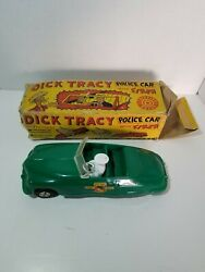 Vintage Marx Dick Tracy Police Dept. Convertible Friction Toy Car W/ Box