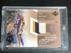 Kobe Bryant 2002 Ud Game Used Jersey Patch Jersey Los Angels Lakers Hof Nba