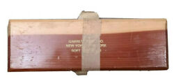 Vintage Large Soft Arkansas Sharpening Stone 8 Inches In Wooden Box Excellent