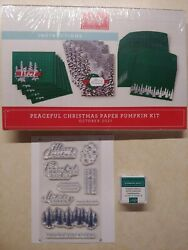 Stampin Up Paper Pumpkin Peaceful Christmas October 2021 Full Kit For 10 Cards