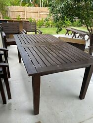 Pottery Barn Outdoor Furniture Set Dark Brown - Used