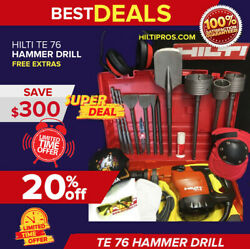 Hilti Te 76 Hammer Drill, Excellent Condition, Free Bits And Chisels,fast Shipping