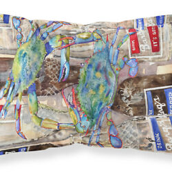Carolineand039s Treasures 8914pillowcase Blue Crabby Bottles Of Barqs Rootbeer