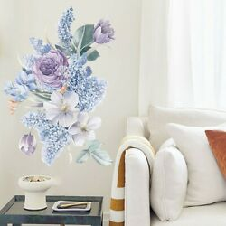 Floral Wall Decals Flowers Self Adhesive Wall Stickers Wall Heavy Duty Useful