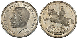 Great Britain. George V 1935 Ar Crown. Ngc Pr65 Scbc-4050. In 0.925 Silver.