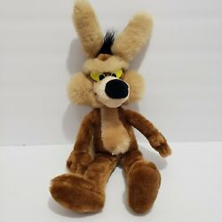 Vintage Wile E Coyote 17 Plush Mighty Star Road Runner Wiley 1989 Warner Bros