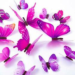 60PCS Butterfly Wall Decals 3D Butterflies Decor for Wall Removable Mural Home