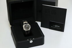 Bell And Ross Wristwatches Ss Silver Black 40mm Automatic Boxed Guarantee Card