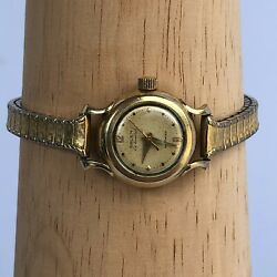 Vintage Gruen Continental Autowind Gold Tone Automatic Womens Petite Small Watch