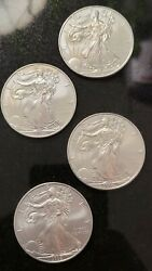Lot Of Four 2009 1 American Silver Eagle Dollars