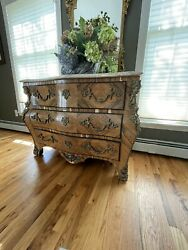 Antique Italian Console Dresser With Marble Top