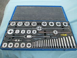 Exc Greenfield Threading 413 Little Giant 45-pc Tap And Die Set Thru 1 And Extras