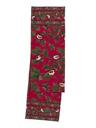 April Cornell Table Runner Andndash Chickadee Collection Andndash Pine Cones Winter Holiday