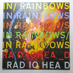 Radiohead Thom Yorke Full Band Signed Autographed And039in Rainbowsand039 Vinyl Album Jsa