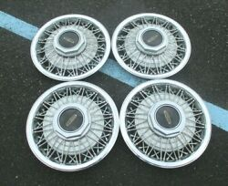 15 1983-1989 Lincoln Town Car Lincoln Mark Series Wire Hubcaps Wheel Covers