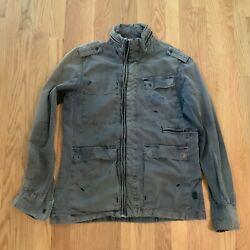 Vintage G-star Raw Military Style Over-shirt Large Very Rare And Very Cool