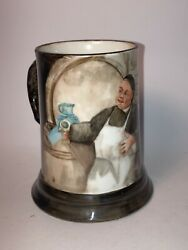 Vintage J P L Limoges France Hand Painted Mug Tankard Cup A.j.w Chef Cooking