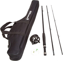 Fly Fishing Pole Collection Andndash 3 Piece Collapsible Fiberglass And Cork Rod