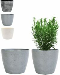 Outdoor Indoor Garden Plant Pots With Drainage Holes, 8 Inch Decorative Optional