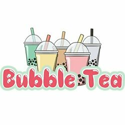 Bubble Tea 36 Concession Decal Sign Cart Trailer Stand Sticker Equipment
