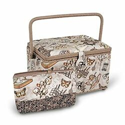 Dritz Accessory Case Large Rectangle Taupe Basket Neautral Sewing