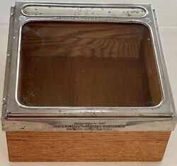 Antique Nabisco National Biscuit Company Store Display Case Glass And Wood.