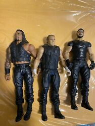 WWE The Shield Mattel Action Figure Wrestling Reigns Ambrose Rollins Moxley