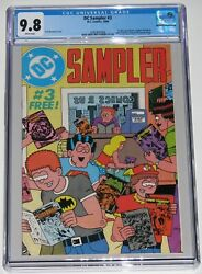 Dc Sampler 3 Cgc 9.8. 1st Cameo John Constantine In Preview. Pre- Swamp Thing 37