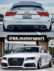 Bkm Rs7 Style Aftermarket Body Kit Front Bumper Rear Diffuser Fits Audi A7 C7.0