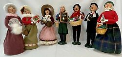 Byers Choice Lot Of 7 Sought After Adult Carolers