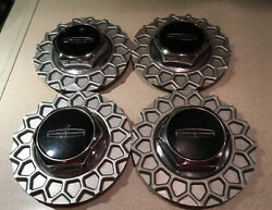 1990 1997 Lincoln Town Car Center Caps Hubcaps Genuine Oem Set Of 4 Nice