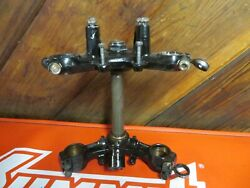 1974 Honda Cr250 Elsinore Triple Tree Steering Stem Upper Lower And039and039completeand039and039