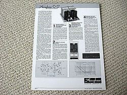 Accuphase C-17 Moving Coil Phono Pre-amplifier Brochure