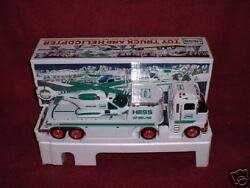 2006 Hess Green-white Toy Truck And Helicopter
