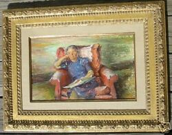 Early O/c Painting Iver Rose 20th C Impressionist