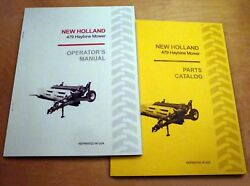 New Holland 479 Haybine Mower Conditioner Operator's And Parts Manual Catalog Nh