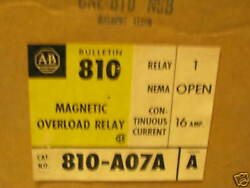 Unused Allen Bradley Magnetic Overload Relay. 810-a07a