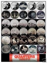1999-2009 Pandd Set Complete 112 Coins Bu State Quarters