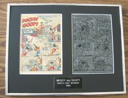 Mickey Mouse And Goofy 1956 10 Page Disney Comic Printing Plates Vintage Boxing