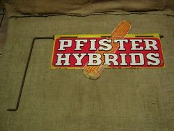 Rare Vintage Pfister Seed Sign Antique Old Signs Feed
