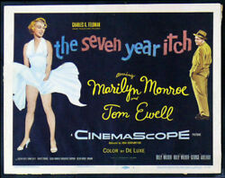 Seven 7 Year Itch Cinemasterpieces Marilyn Monroe Movie Posters Lcs