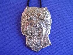 West Highland White Terrier Pewter Necklace #27B Dog Jewelry by Cindy A. Conter